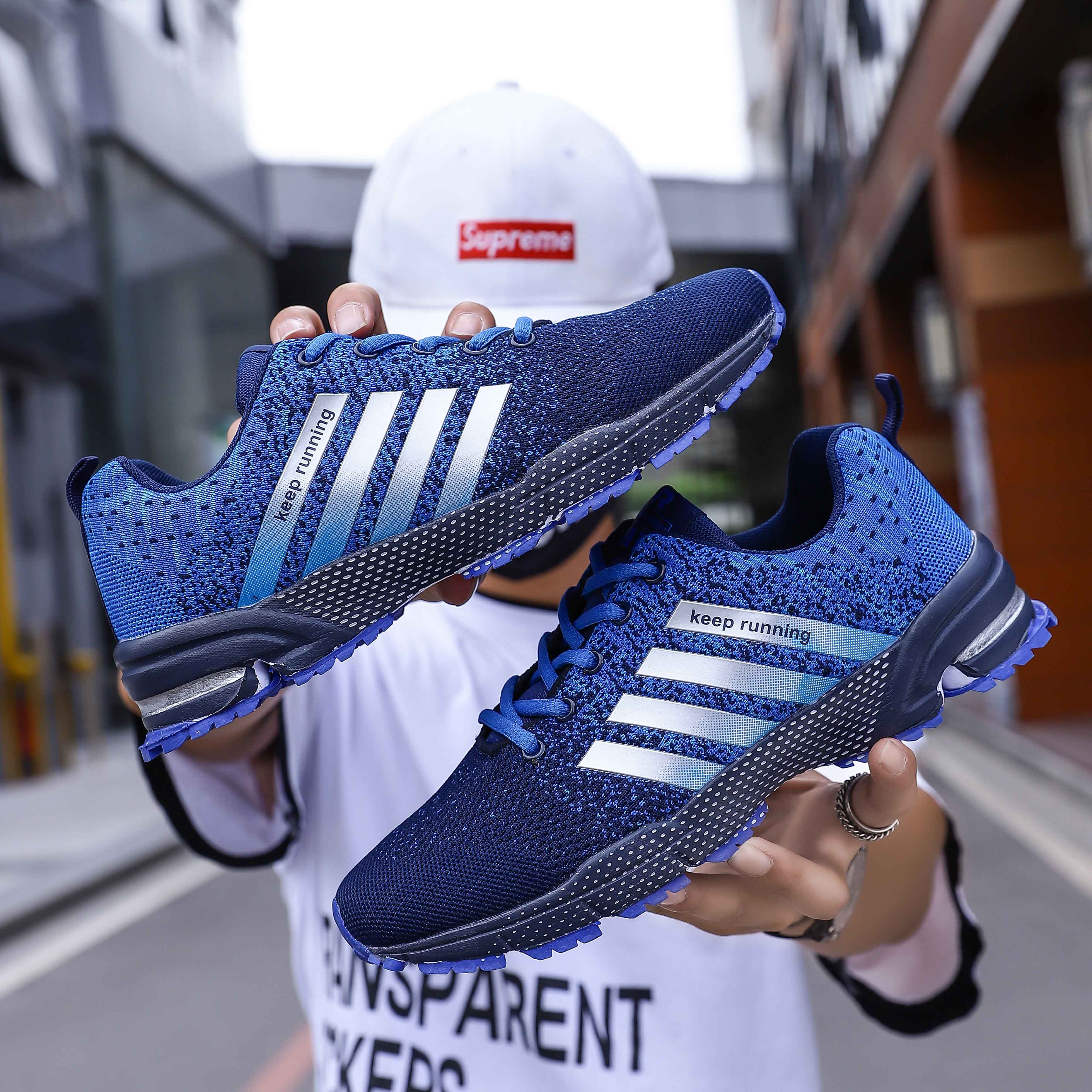 2020 Sneakers Men And Women Sneakers Lightweight Breathable Mesh Walking Shoes Soft Comfortable Casual Shoes Men Plus Size 35-47