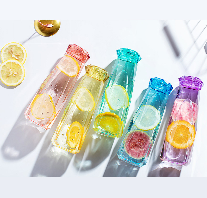 Crystal Water Bottle Creative Bottles Cup Gemstone Bottle Travel My Bottle 620ml H1216|Water Bottles|   - AliExpress