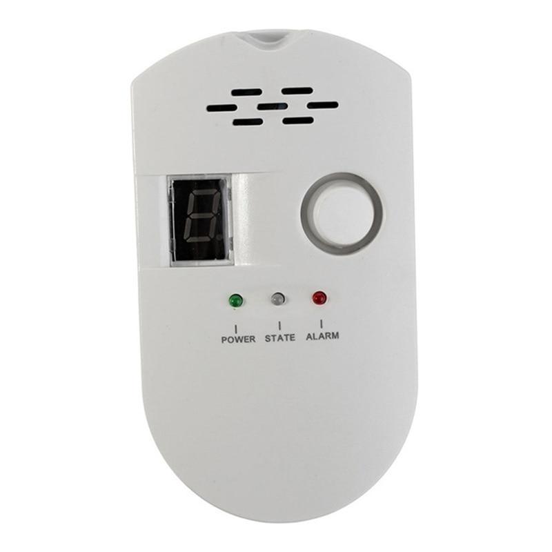 Plug-In Digital Gas Detector High Sensitivity Lpg/Coal/Natural Gas Leak Detection Alarm Monitor Sensor For Home/Kitchen Gas Alar