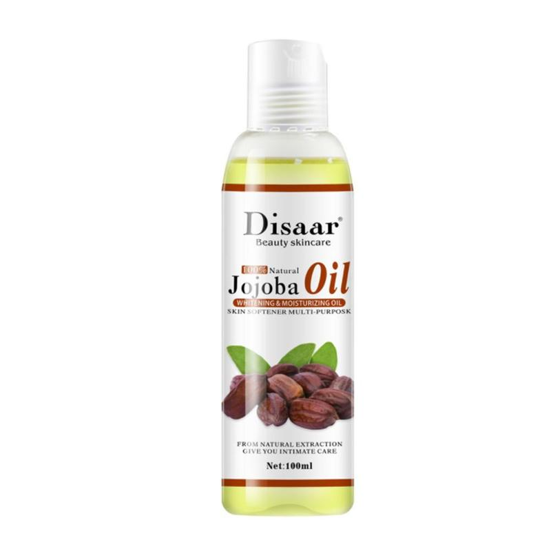 Disaar Natural Organic Jojoba Oil Massage Skin Care Relieve Stress Relaxing Moisturizing Brighten Tone Essential Oil 100ml