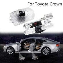 2 Stuks Voor Toyota Crown Welkom Licht Nieuwe Kroon 18 Model 12 13 14 Generatie Gemodificeerde Auto Deur Licht Laser projectie Lamp