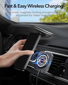 Image 4 - ESR HaloLock מגנטי אלחוטי מטען לרכב הר עבור iPhone 12 פרו מקסימום מהיר טעינה אלחוטי מטען לרכב טלפון מחזיק אוויר vent