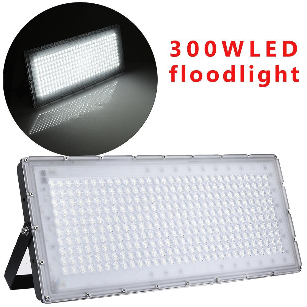 6000 6500K Waterproof 300W 24000LM Cool White LED Flood Light For Garden Yard Party Playground Warehouse Billboard Garage