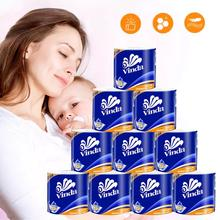 10 Roll Toilet Paper Towels White Rolls Toilet 4 Layers Replacement Roll Paper Home Bath Toilet Roll Paper Supplies Decor Tissue