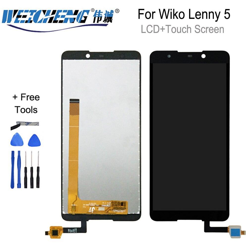 Wiko Lenny 5 için lcd ekran ve dokunmatik ekranlı cep telefonu Wiko Lenny 5 araçları ile