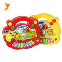 цена на Baby Kids Developmental Educational Music Musical Animal Farm Piano Sound Toy Sounding Keyboard Piano Baby Playing Type