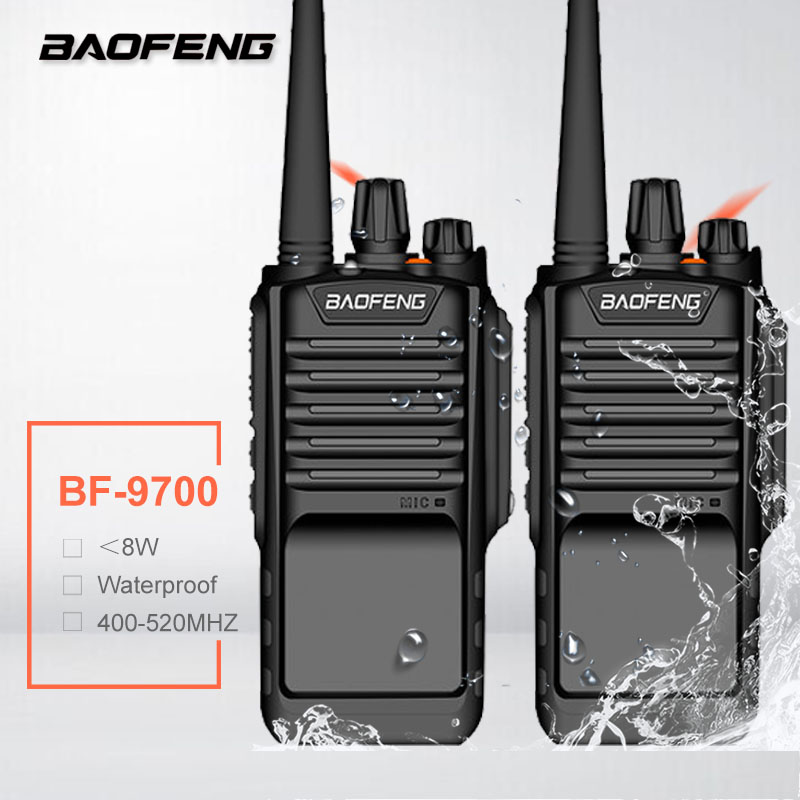 2PCS BAOFENG BF-9700 8W Long Waterproof Walkie Talkie UHF Handheld CB Amateur Radio FM HF Transceiver BF 9700 Woki Toki UV-9R