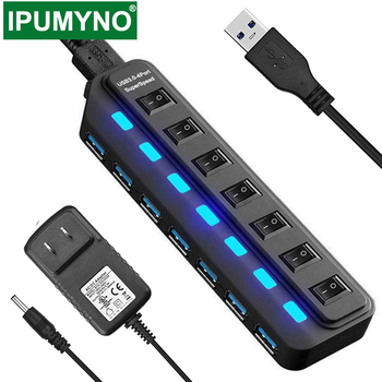 USB 3.0 HUB Multi 4 7 Port Usb Splitter With Power Adapter For Macbook Air Pro Xiaomi Pc Computer Laptop Accessories USB 3 Hab