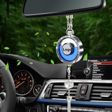 Car Logo Air Freshener Diffuser Fragrance Double diffusion pore Scent Rearview Mirror Diamond inlay Pendant Perfume for Car