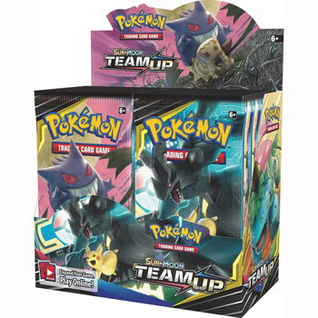 324pcs Pokemones cards  TEAM UP Edition English version Booster Box Collectible Trading Cards Game 1