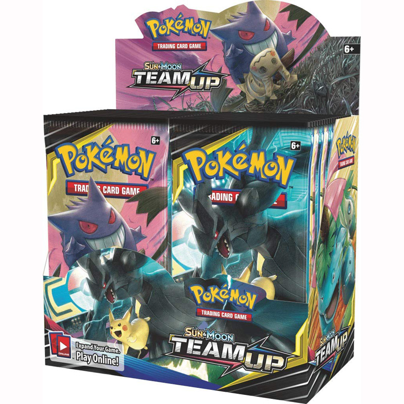 324pcs Pokemones Cards  TEAM UP Edition English Version Booster Box Collectible Trading Cards Game