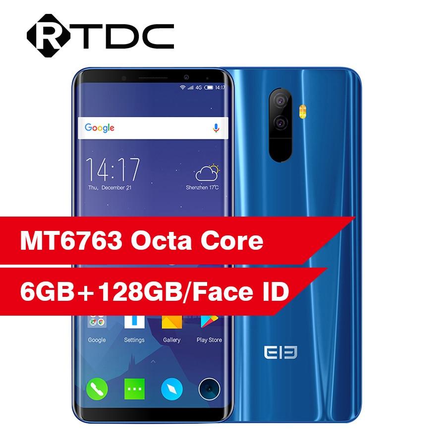 "Elephone U 5.99"" 18:9 Screen 6GB 128GB Face ID Mobile Phone Android 7.1 MT6763 Octa Core 13MP Dual Back Camera 4G LTE Smartphone"