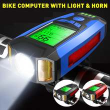 Налобный фонарь для велосипеда с ЖК дисплеем и спидометром 130