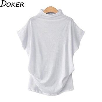 2020 Summer Solid T Shirt Women Casual Clothes Short Sleeve Oversized T Shirt Streetwear Girl Plus Size Tops Tee Shirt Femme mesh panel plus size girl face t shirt
