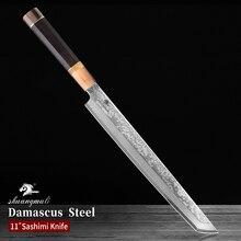 Filleting Knife Cleaver Japanese Damascus Steel Slicing Salmon Sashimi Kitchen 11inch