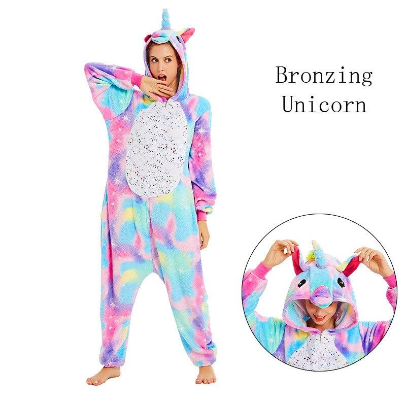 Unicorn Onesies Unisex Winter Kigurumi Stitch Panda Onesies Women Men Nightwear Anime Costume Adult Flanel Nightwear Pyjamas