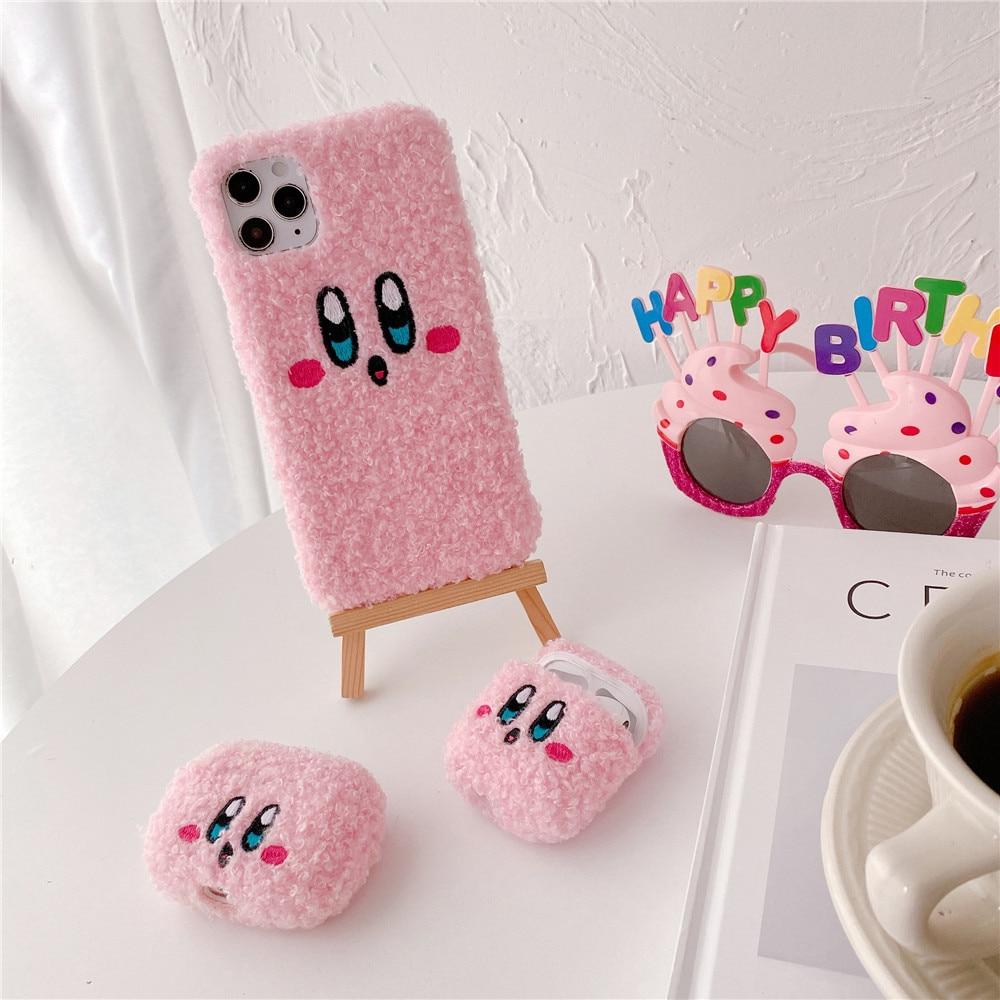 Kawaii Kirby Plush iPhone and Air pod Case 1