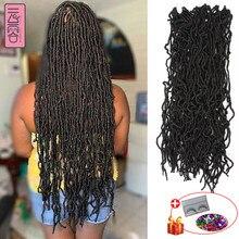 YunRong – extensions capillaires synthétiques au Crochet, 36 pouces, Faux Locs ombrés, tresses douces pour femmes
