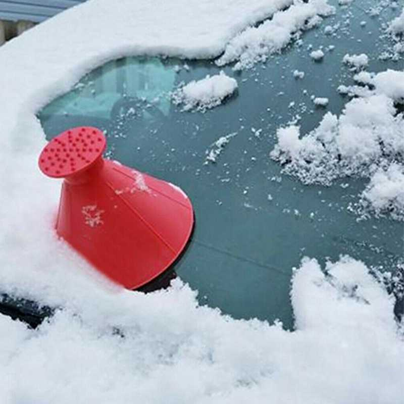 Magical Car Windshield Ice Scrapers Cone Shaped Snow Remover Funnel Squeegees