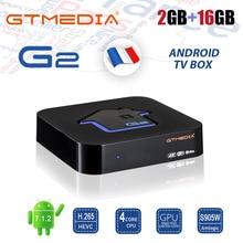 GTMEDIA G2 2GB 16GB Android TV BOX 4K Media Player DDR3 Amlogic S905W Quad Core Dual Wifi BT4.0 100M H.265 IPTV M3U Smart TV Box цены