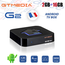 цена на GTMEDIA G2 IPTV M3U Smart TV Box Android 7.1 S905W 2GB 16GB Wifi Bluetooth 4K Google Player PK H96 Android TV Box IPTV FRANCE