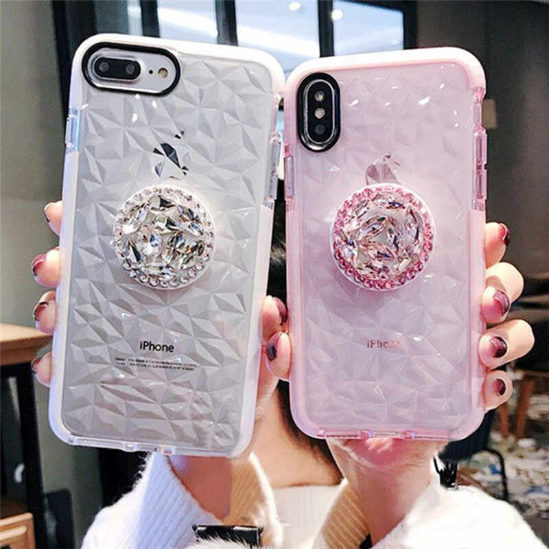 Mewah Jelly untuk iPhone 11 Pro Max XR X MAX 7 8 6 6S PLUS 5S se Double Warna Lembut TPU Transparan Shockproof Cover