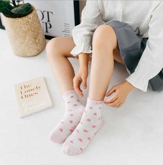 Maya stepan 1 par algodão verão meias do bebê meninas crianças meninos recém-nascidos estrela dot listrado