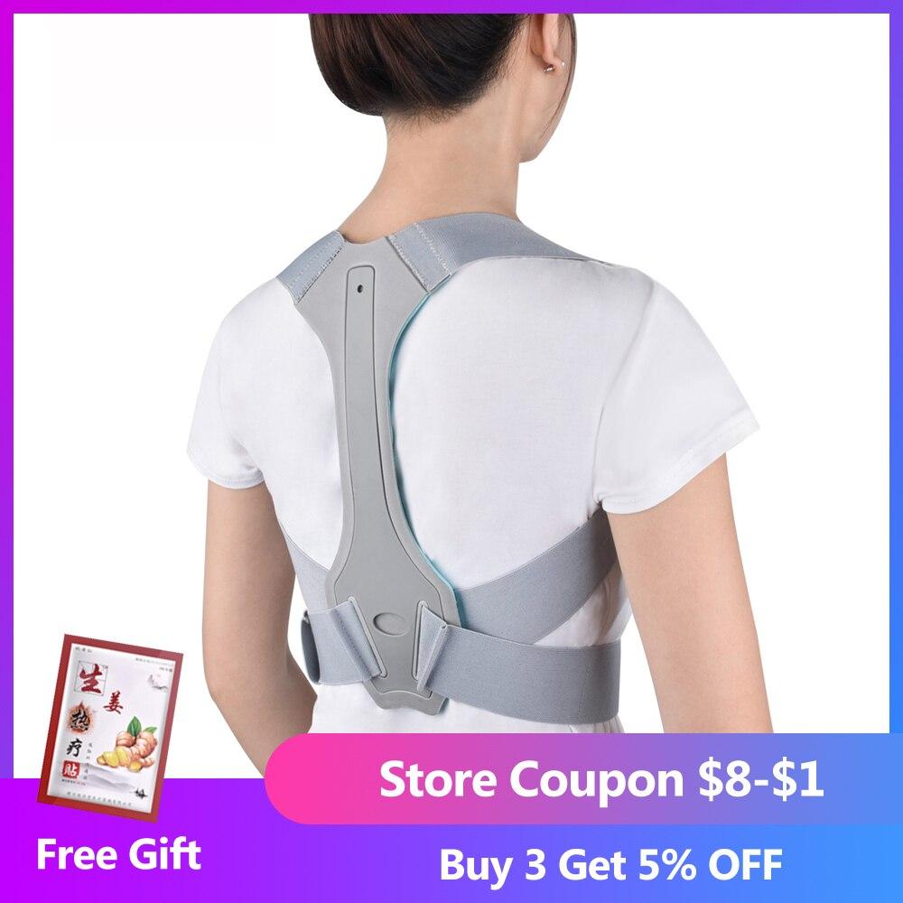 Adjustable Size Back Posture Corrector Back Pain Relief Support Spine Waist Straps Posture Correction Silver Belt For Men Women