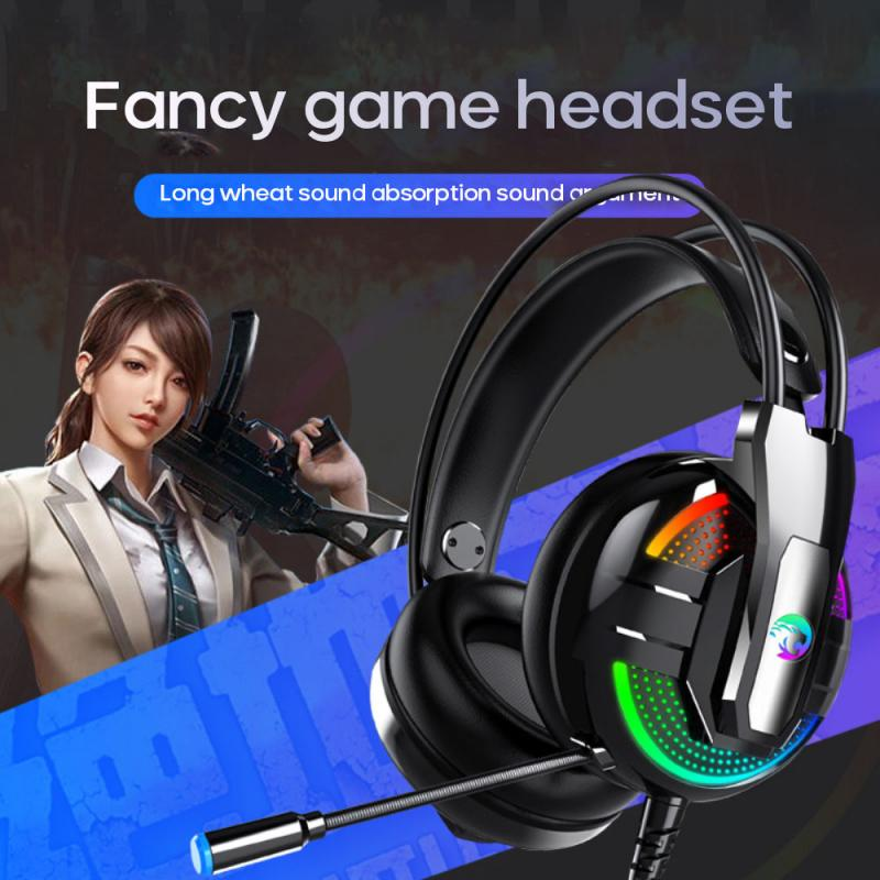 Headphone Headset Computer Notebook Game Headset With Microphone 4D Sound Effects Luminous Heavy Bass Headphones For PC|Headphone/Headset|   - AliExpress