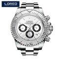 LOREO винтажная Мода 200 м водонепроницаемые мужские механические часы с металлическим ремешком лучший бренд класса люкс хит продаж Ретро диза...