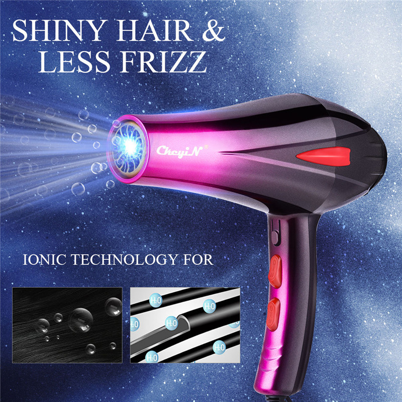 4000W Blue Light Professional Hair Dryer Adjustable Wind Blow Air Concentrator Nozzle Diffuser  Hairdryer Blower Hair Styler