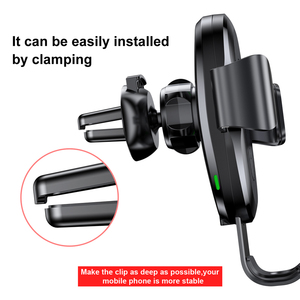 Image 2 - Baseus  Air Vent  Car Wireless Charger For iPhone X Xr Xs Max 10W Fast Wireless Charger Car Phone Holder For Samsung S9 S8
