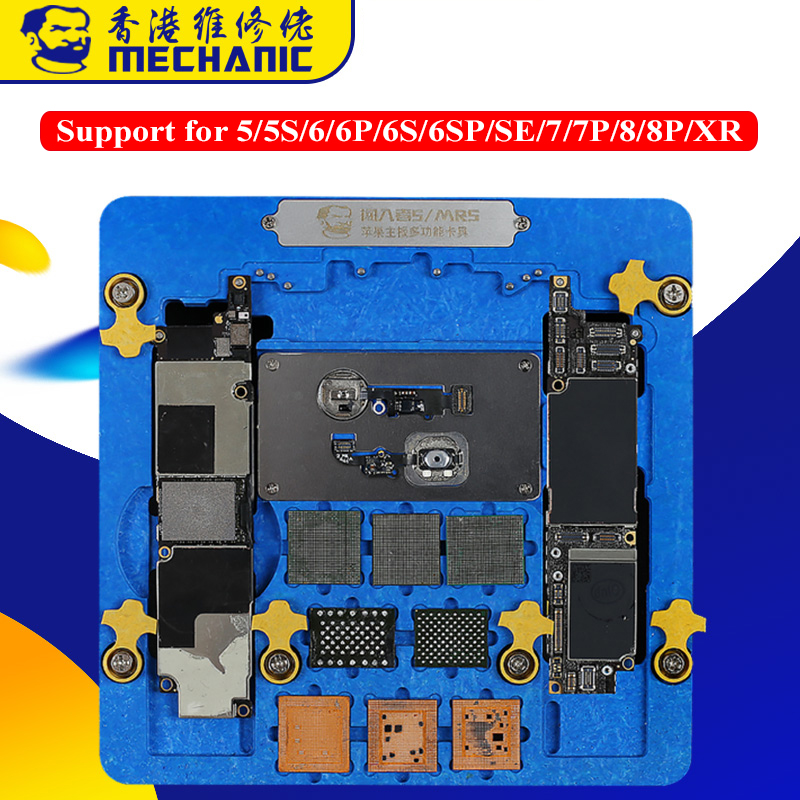 Multi-function PCB Holder Motherboard Repair Jig Fixture for iPhone XR 8P 8 7P 7 6SP 6S 6P 6 A7-A12 Fingerprint Repair Platform