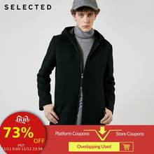 SELECTED New Autumn & Winter Men's Wool Coat Long Woolen Hooded Jacket S | 418427542(China)