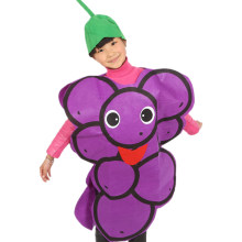 Child Stage performance Clothes Kids One Piece Grape Orange Costume Non-woven Fabric Fruit Party Fancy Dress Cosplay Party Suits(China)