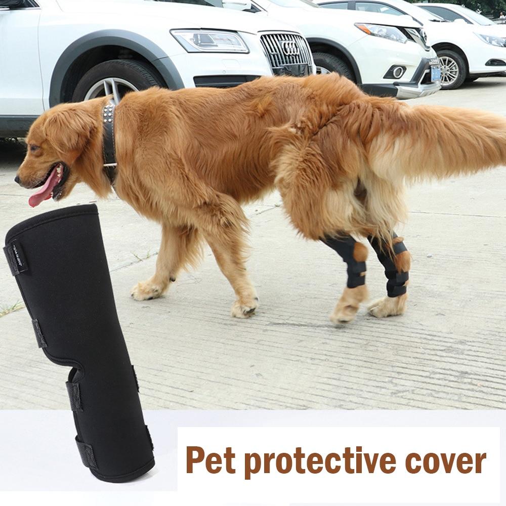 2Pcs Lot New Breathable font b Pet b font Dog Knee Pads Dog Support Brace For