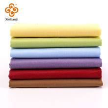 Solid Color Pure Twill Cotton Cloth Patchwork Bundle Sewing Material Pink Red Green Fabric 25*25cm TJ1328