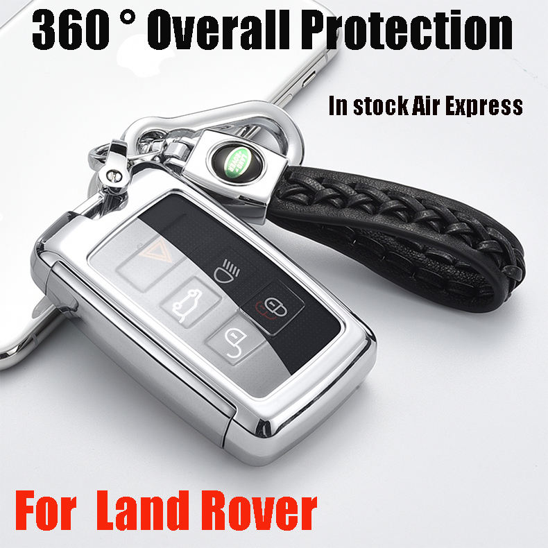 ZOBIG Car key cover shell auto case for Land Rover Range Evoque Discovery 5/Discovery Sport Jaguar Key Chain