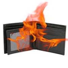 Новинка трюк пламя огонь кошелек большой пламя кошелек для фокусов сценический уличный шоу кошелек Шутки Новинка игрушки#10