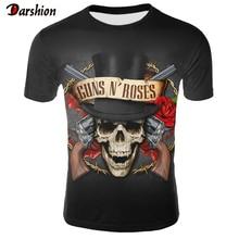 3D Printed Guns N Roses T-shirt Men/Women O-Neck Short Sleeve Casual Print 3D t shirt Men Fashion To