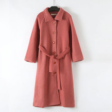 Winter Wool Blend Coats Women Korean Casual Single-Breasted Loose Long Woolen Coats Ladies Plus Size Vogue Warm Jackets Harajuku все цены