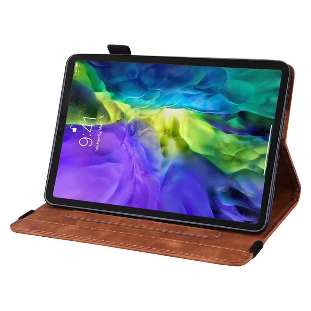 3D Pro Cover 12.9 Flower Folding iPad Leather Case Embossed 4th Generation For 2020