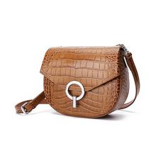 Genuine Leather Woman Package Crocodile Grain Saddle Joker Single Shoulder Small Bag crossbody bags Fashion for women New Design summer on new small bag woman package 2019 new pattern han banchao single shoulder satchel fashion concise joker fairy package