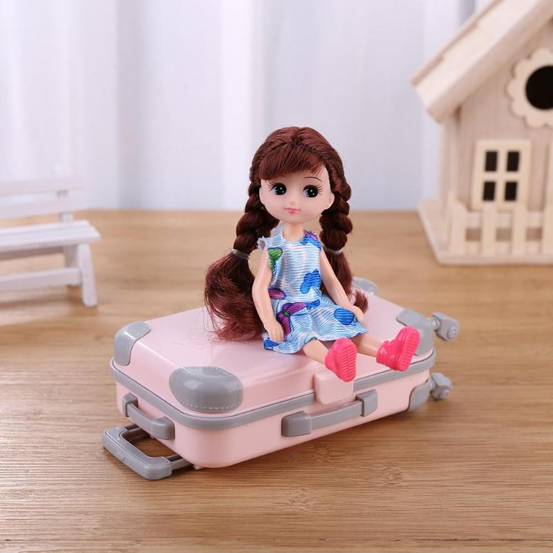 Plastic 3D Travel Train Suitcase Luggage For Barbie Doll Toy Kid Play House Gift Professionally And At A Favorable Price