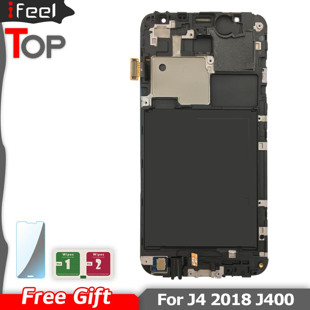 For Samsung Galaxy J4 2018 J400 J400F J400H J400P J400M J400G/DS LCD Display Touch Screen Panel Digitizer Assembly With Frame