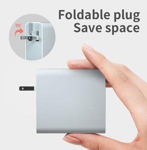 Image 5 - Ładowarka USB PD 65W ue usa przejściówka Adapter QC3.0 ładowarka do telefonu komórkowego na przenośna ściana mobilna szybka uniwersalna ładowarka podróżna zasilanie prądem zmiennym