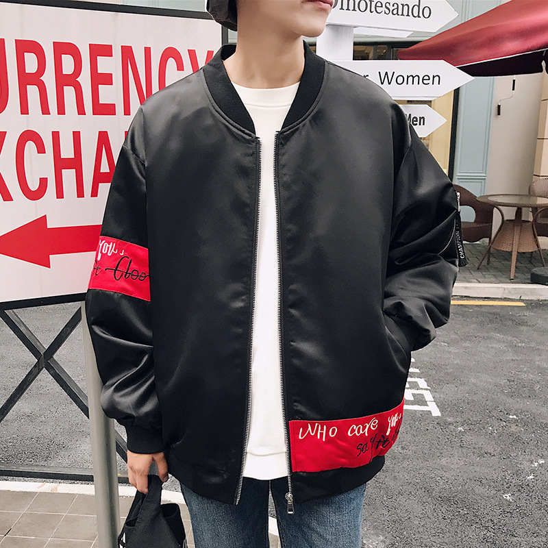 Men Spring And Autumn 2017 New Style Clown Coat Korean-style Trend Thin Students Clothes Handsome Jacket Baseball Uniform