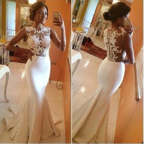 Sexy Lace Embroidery Gauze And Taffeta Long Mermaid Wedding Dress Vestido De Noiva Trumpet Dresses Bride Gown Robe De Mariage