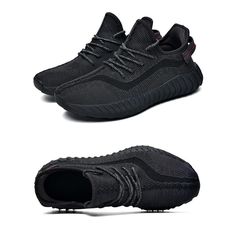 Hommes femmes chaussures décontractées Kanye West hommes femmes respirant Flyknit maille Gym course espadrille