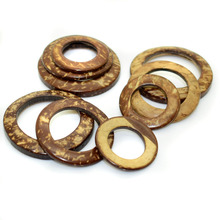30 мм/38 мм/44 мм натуральный кокосовый орех круг кольцо соединительные сумки пряжки ремня DIY